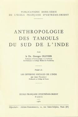 Anthropologie des Tamouls du Sud de l'Inde