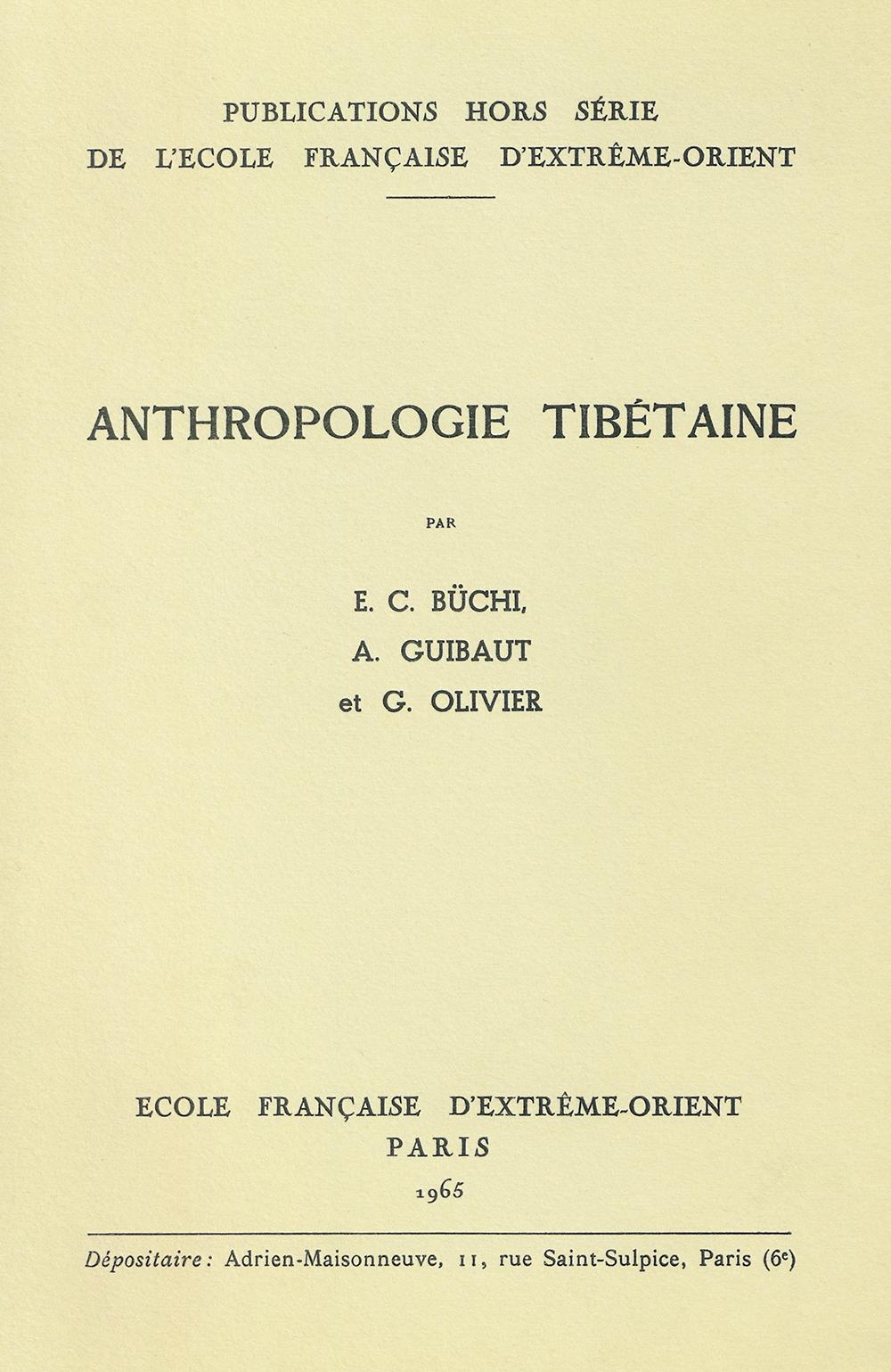Anthropologie des tibétains : Anthropologie des tibétains orientaux