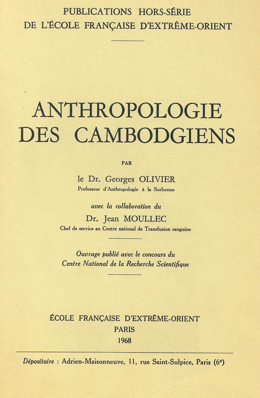 Anthropologie des Cambodgiens