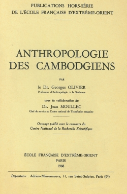 Anthropologie des Cambodgiens