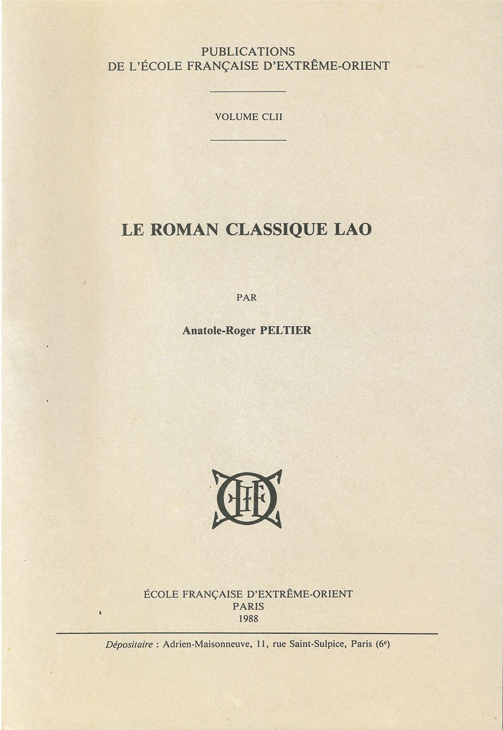 Le roman classique lao