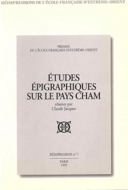 Études épigraphiques sur le pays Cham
