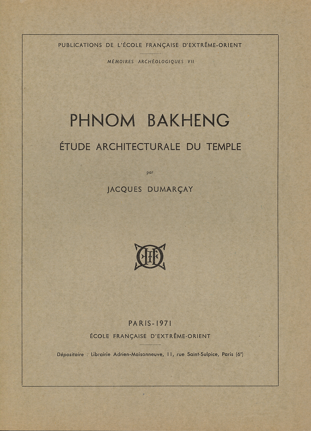 Phnom Bakheng : Étude architecturale du temple