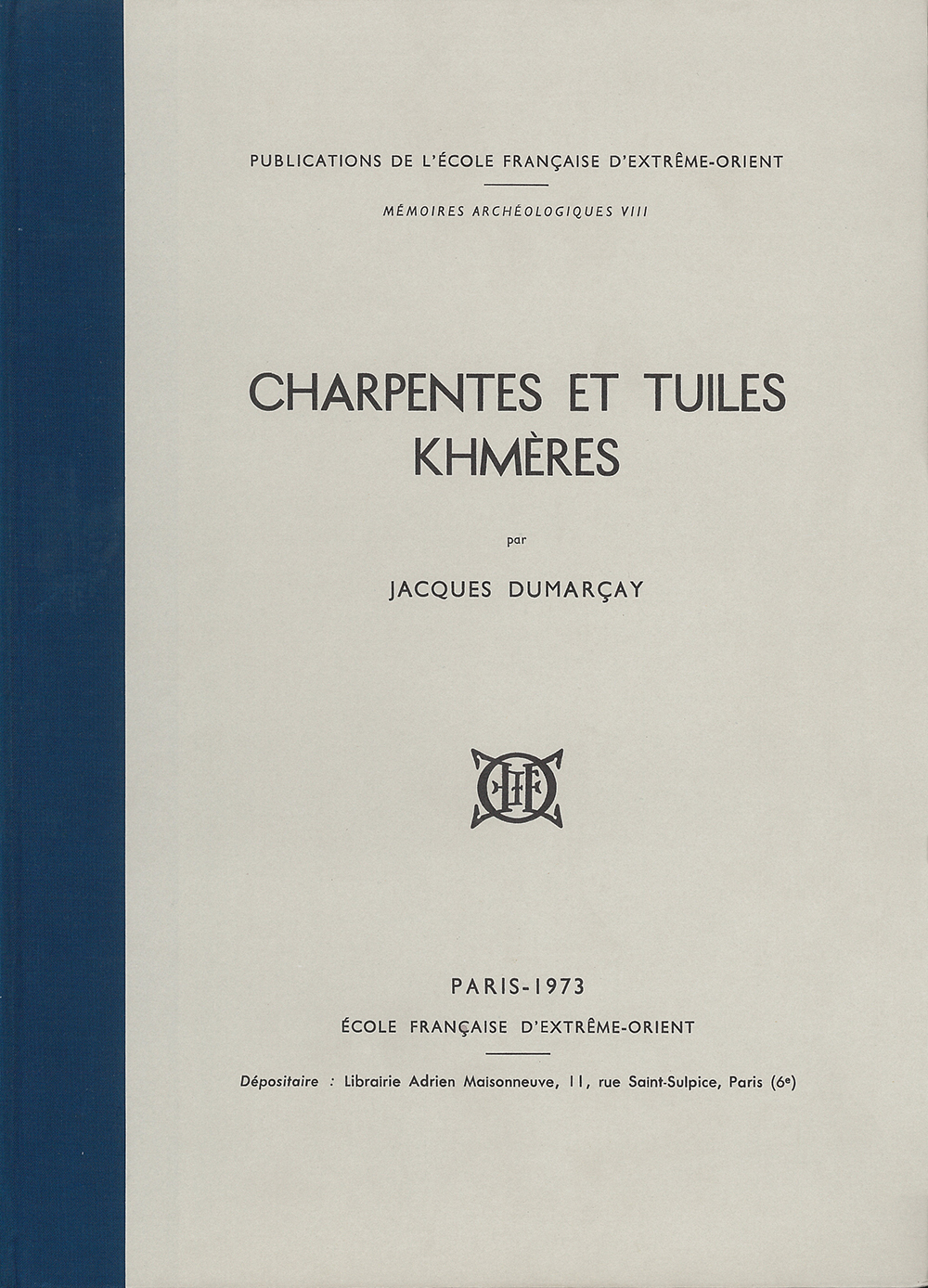 Charpentes et tuiles khmères