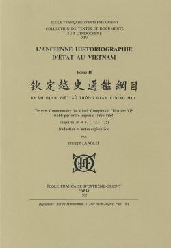 L'ancienne historiographie d'État au Vietnam Tome 2