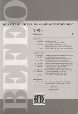 Bulletin de l'Ecole française d'Extrême-Orient 86 (1999)