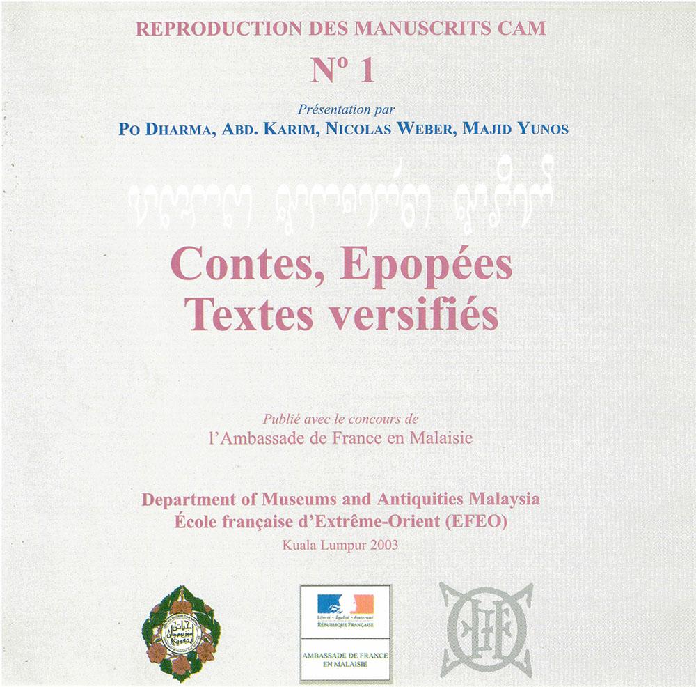 Contes, Epopées, Textes versifiés