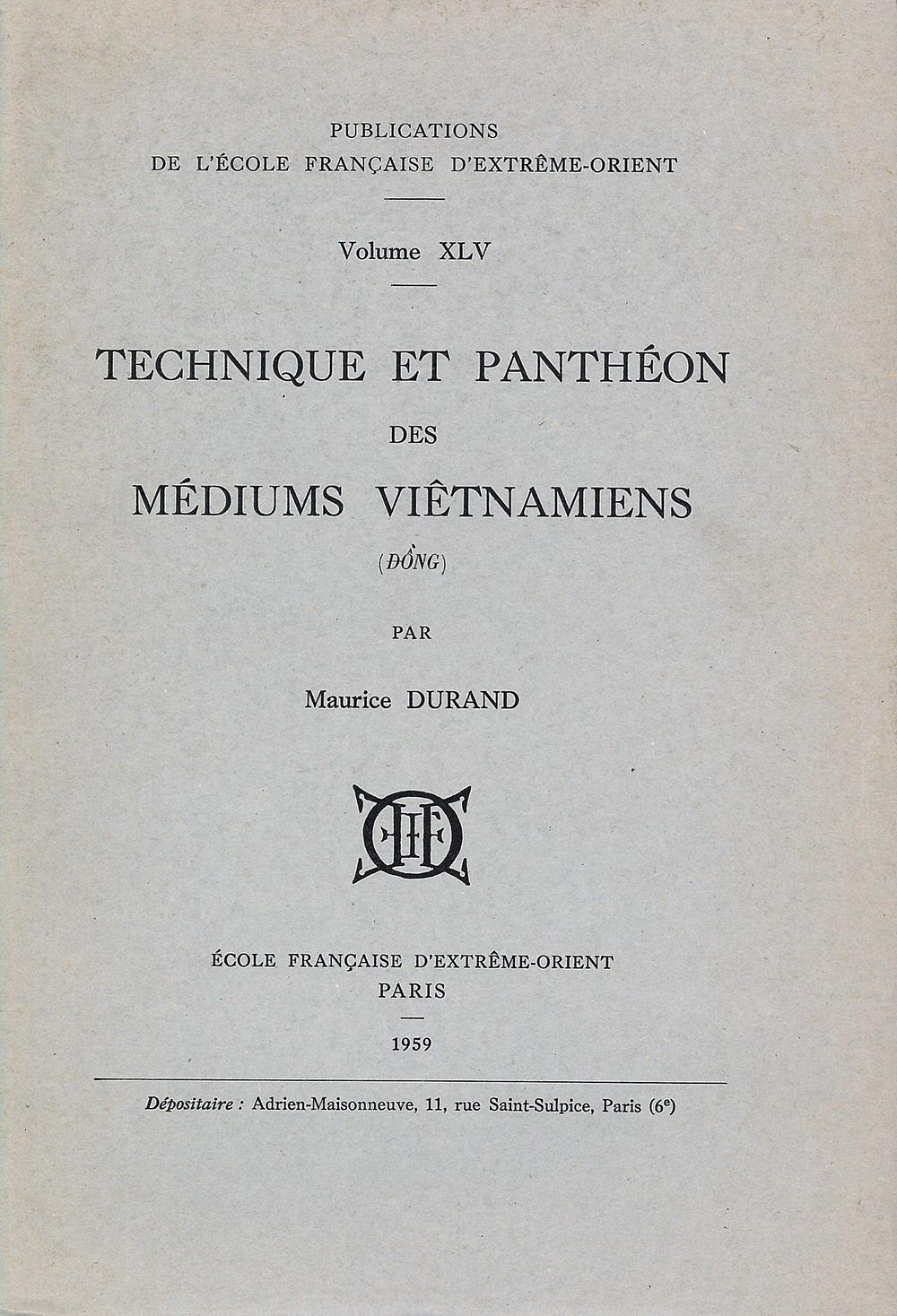 Technique et panthéon des médiums Viêtnamiens (Đông)