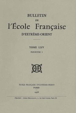 Bulletin de l'Ecole française d'Extrême-Orient 65 (1978)