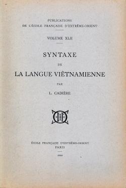 Syntaxe de la langue viêtnamienne