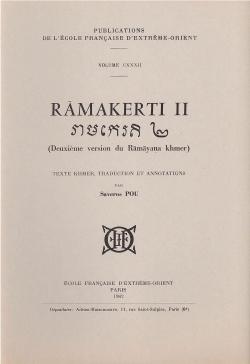 Rāmakerti II : deuxième version du Rāmāyaṇa khmer