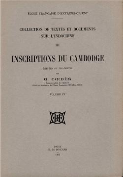 Inscriptions du Cambodge, Volume 4