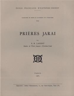 Prières Jaraï