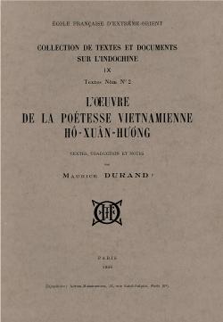 L'Œuvre de la poétesse vietnamienne Hô Xuân Hương