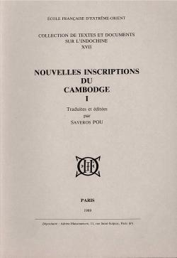 Nouvelles inscriptions du Cambodge, I