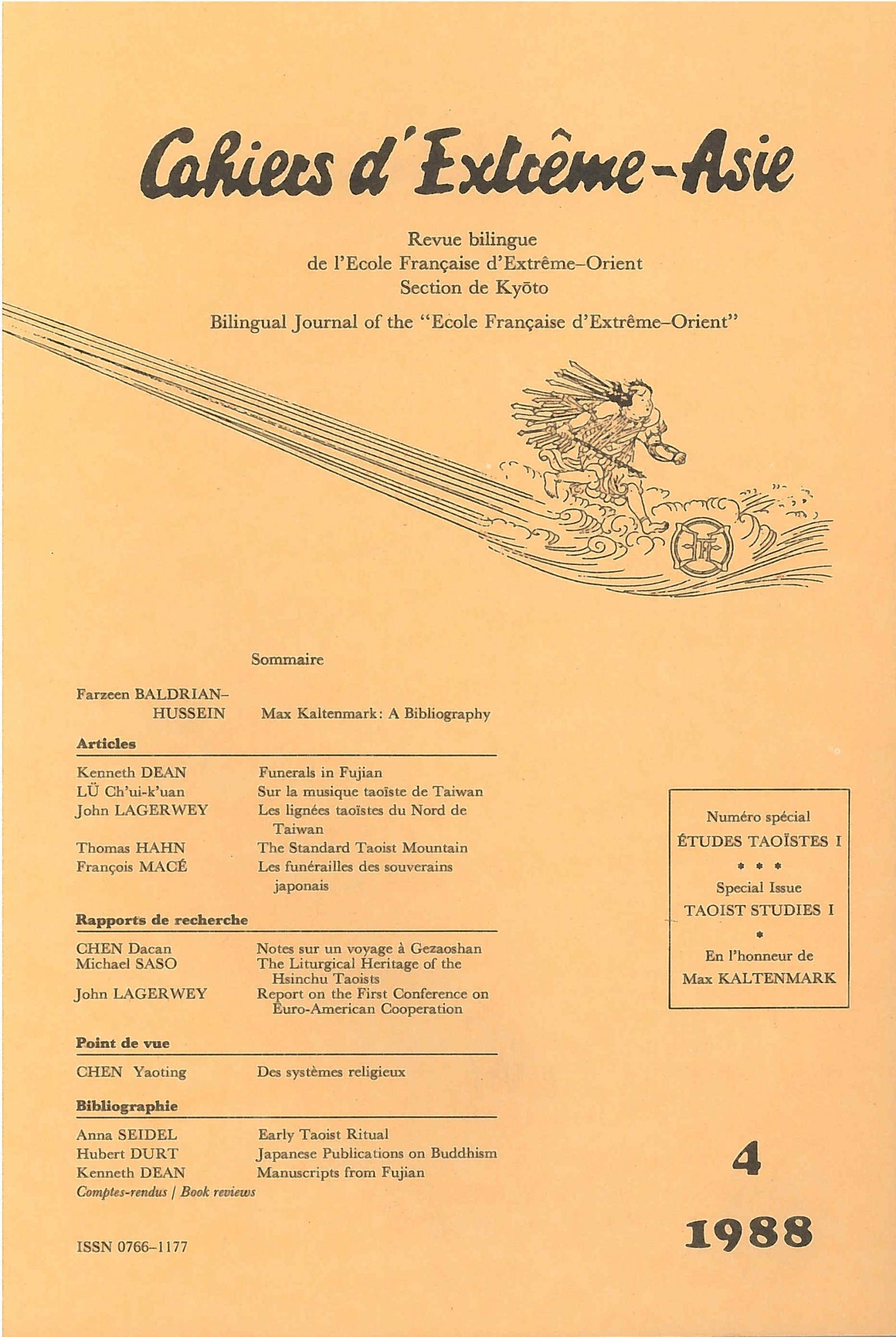 Cahiers d'Extrême-Asie 4 (1988)