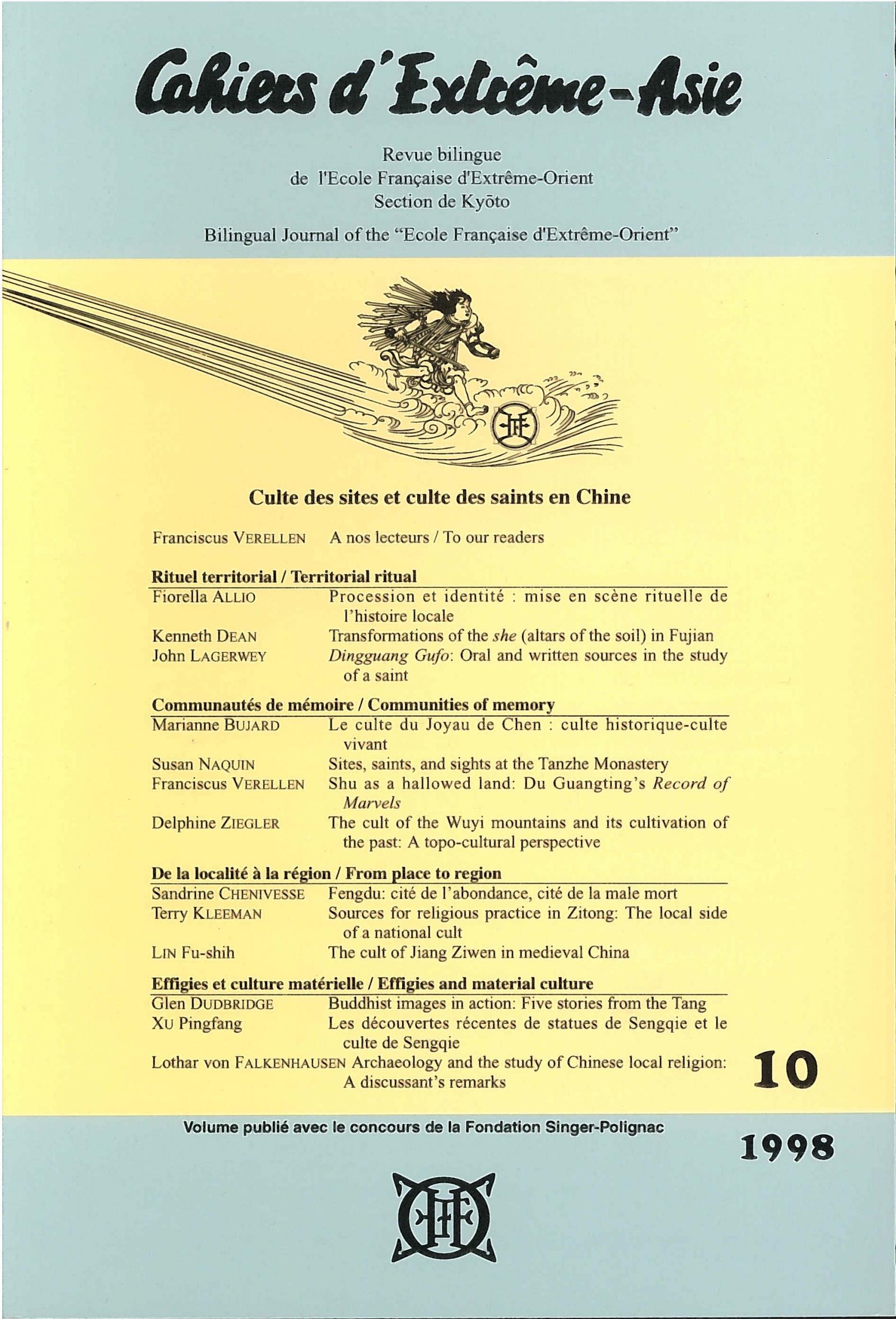 Cahiers d'Extrême-Asie 10 (1998)