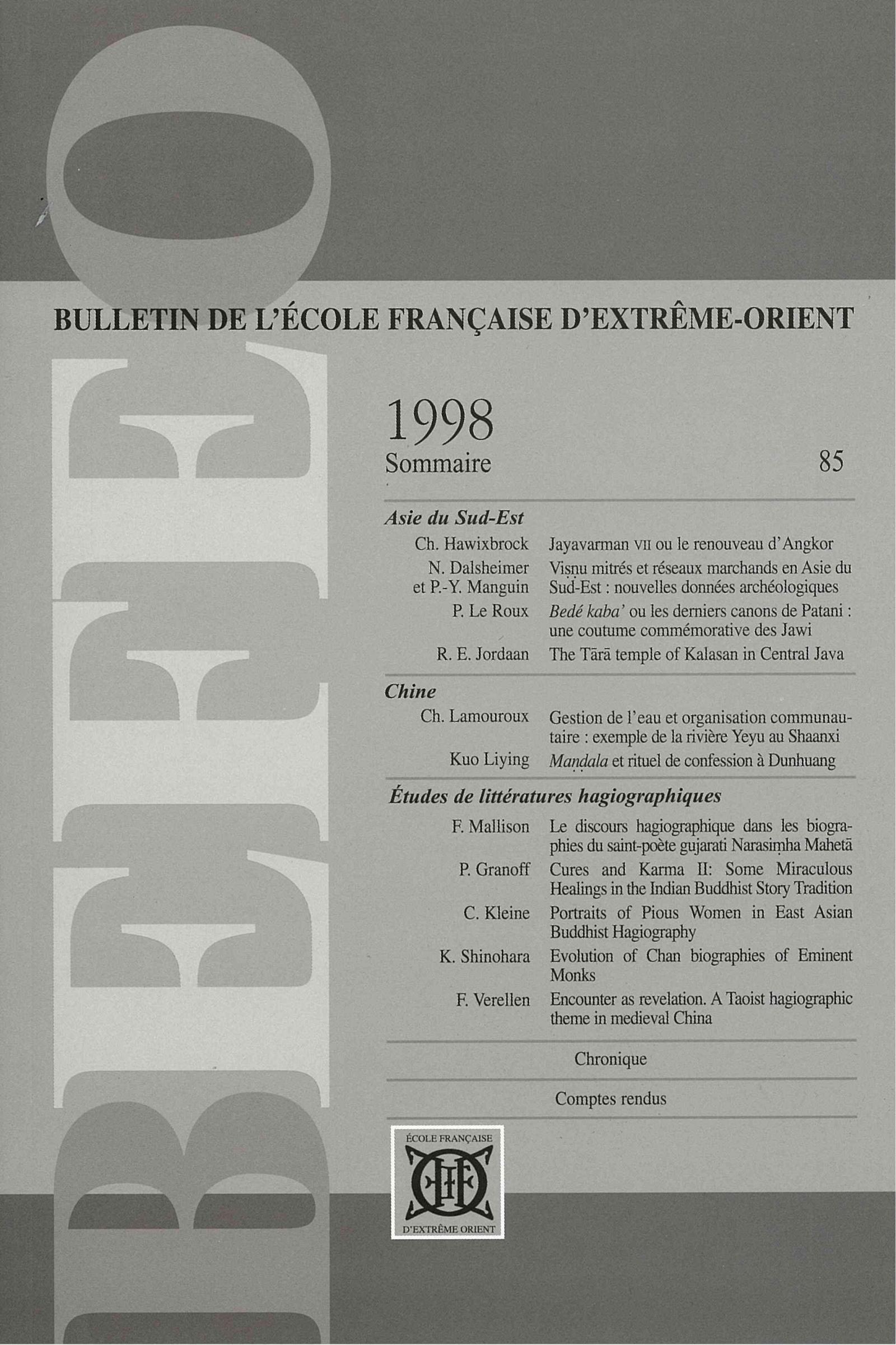 Bulletin de l'Ecole française d'Extrême-Orient 85 (1998)
