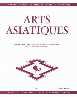 Arts Asiatiques 34 (1978)