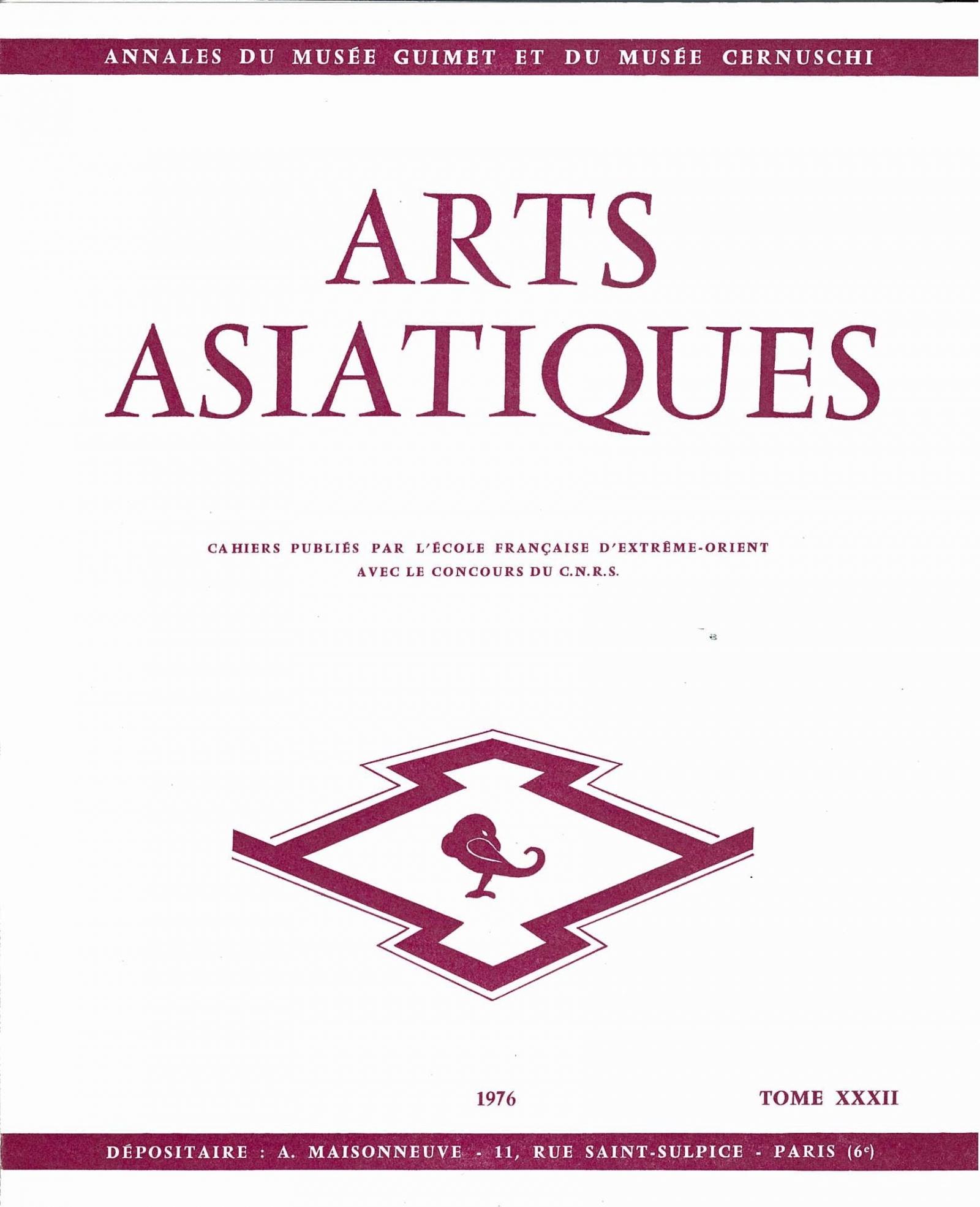 Arts Asiatiques 32 (1976)