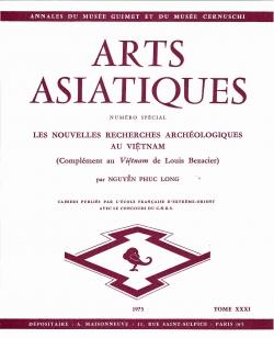 Arts Asiatiques 31 (1975)