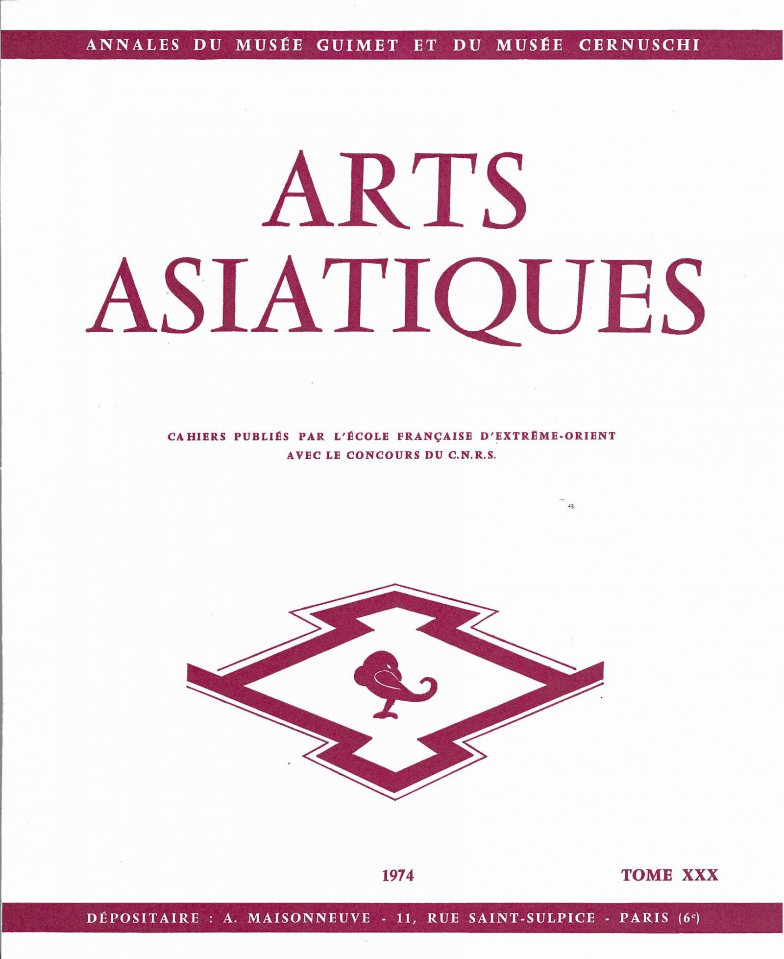 Arts Asiatiques 30 (1974)