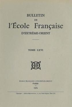Bulletin de l'Ecole française d'Extrême-Orient 66 (1979)