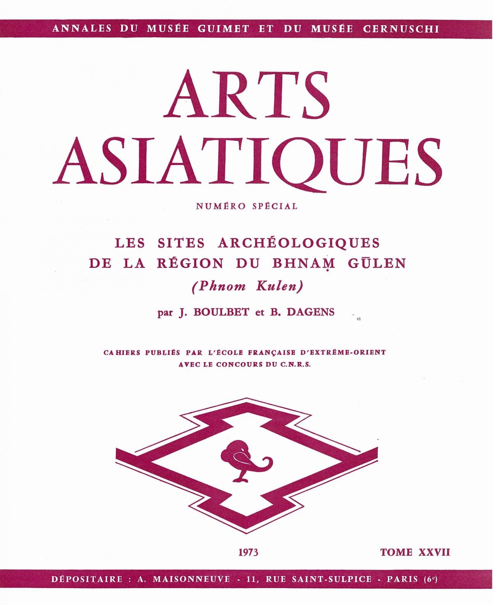 Arts Asiatiques 27 (1973)