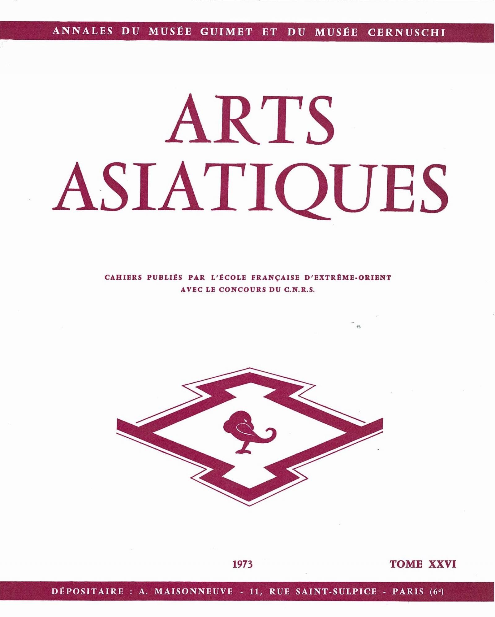 Arts Asiatiques 26 (1973)
