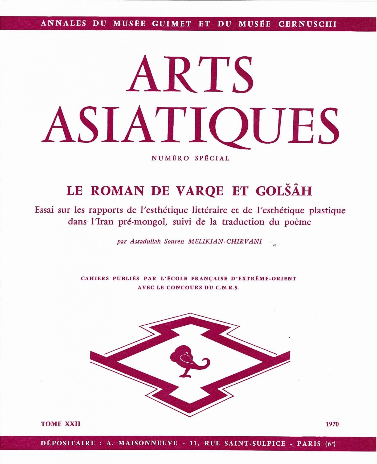 Arts Asiatiques 22 (1970)