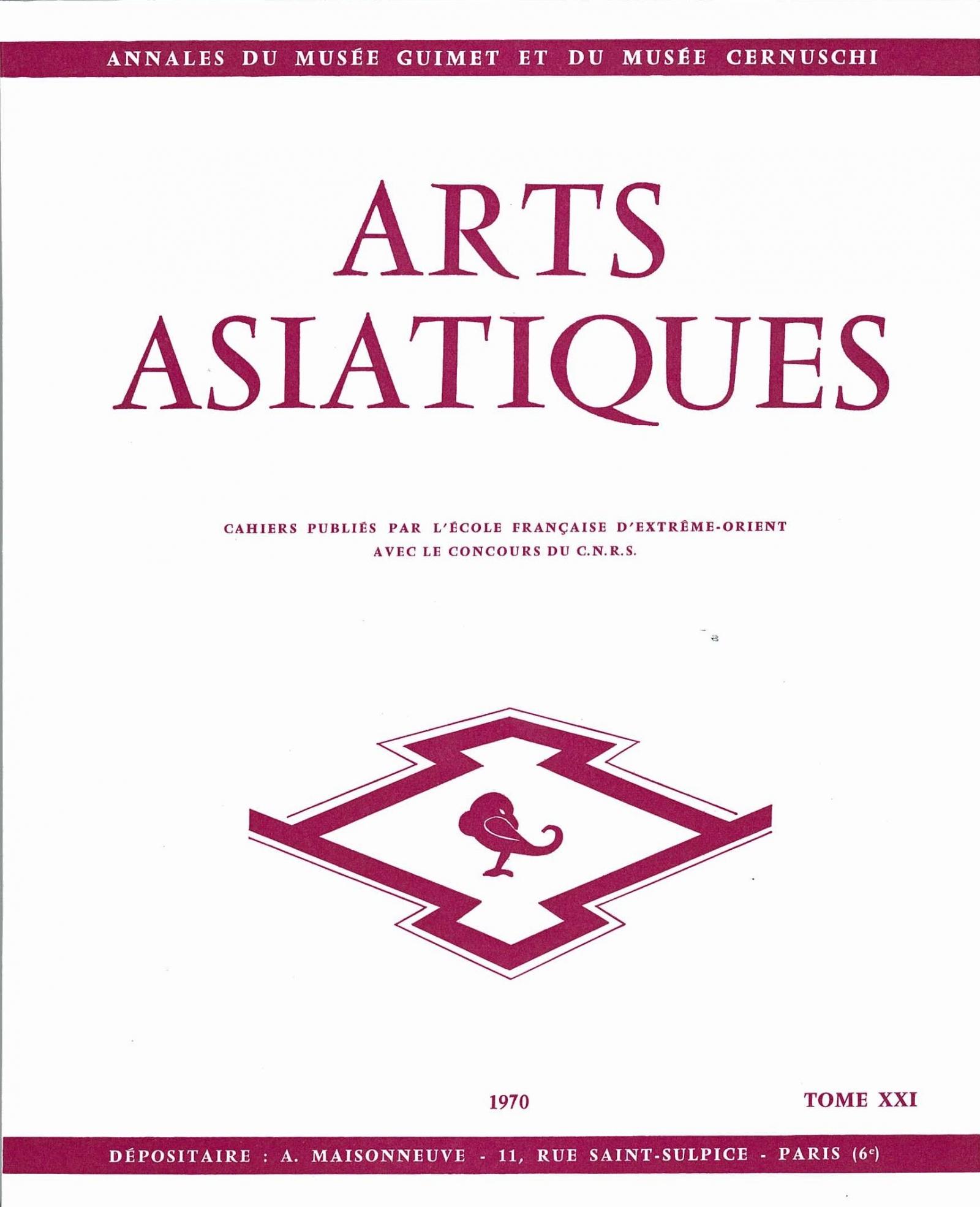 Arts Asiatiques 21 (1970)