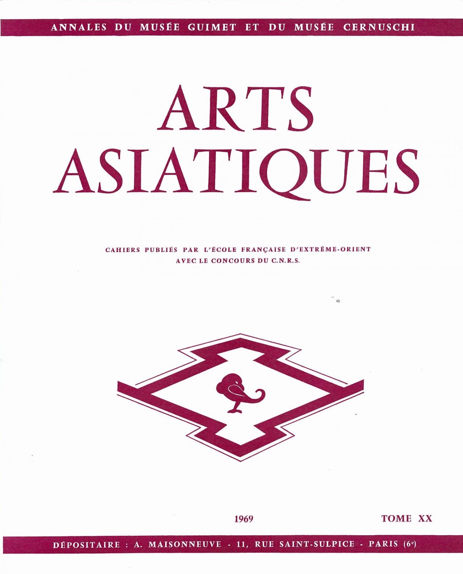 Arts Asiatiques 20 (1969)