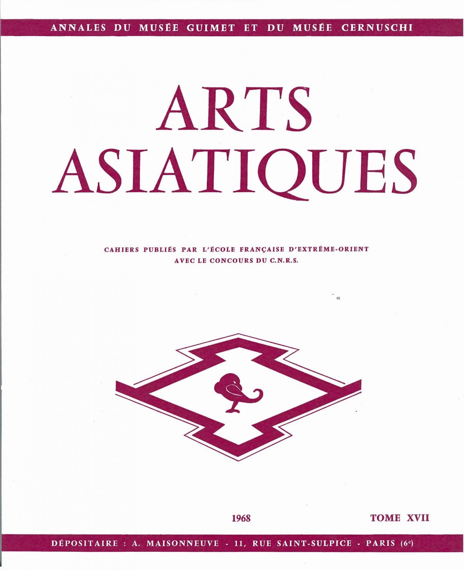 Arts Asiatiques 17 (1968)