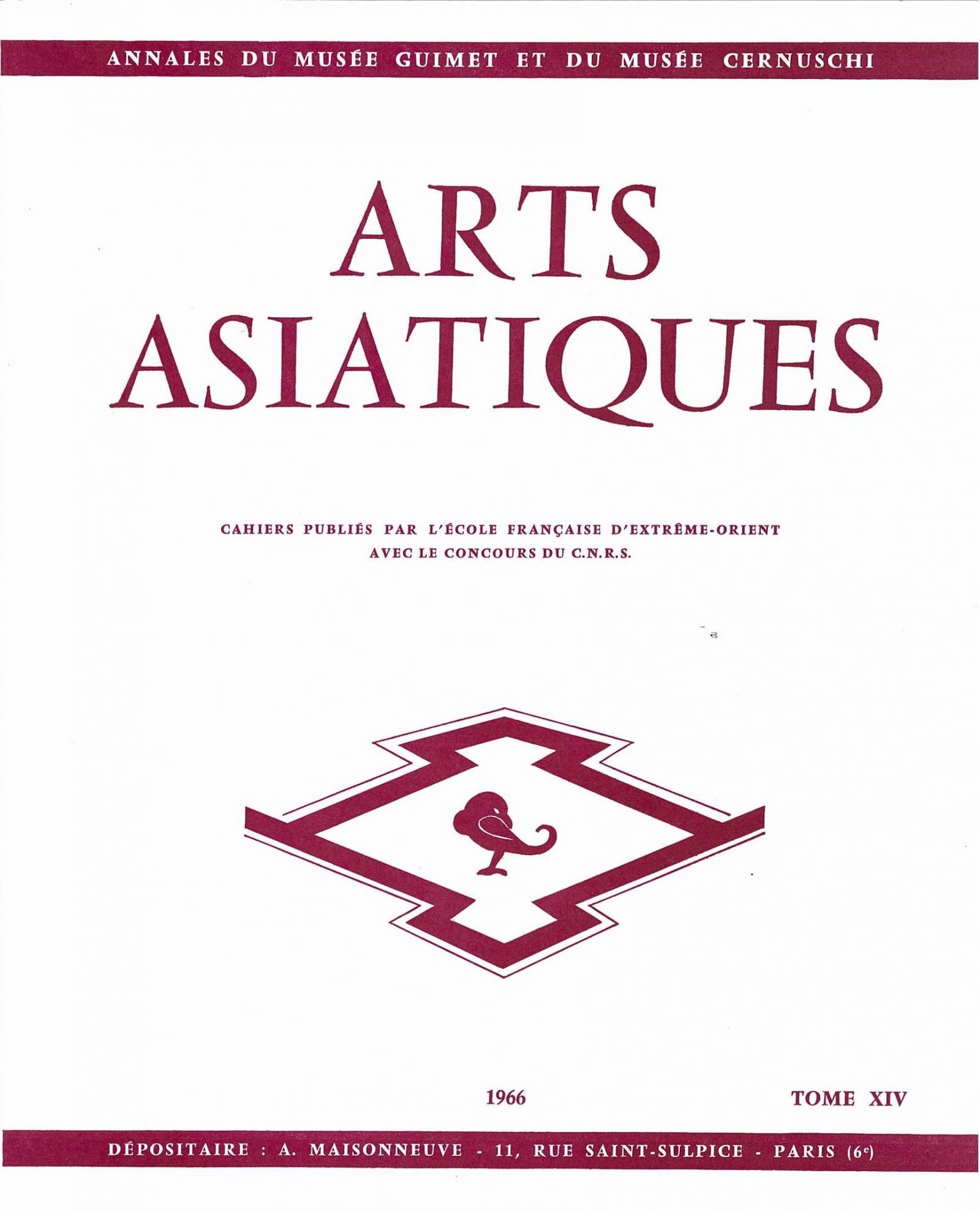 Arts Asiatiques 14 (1966)