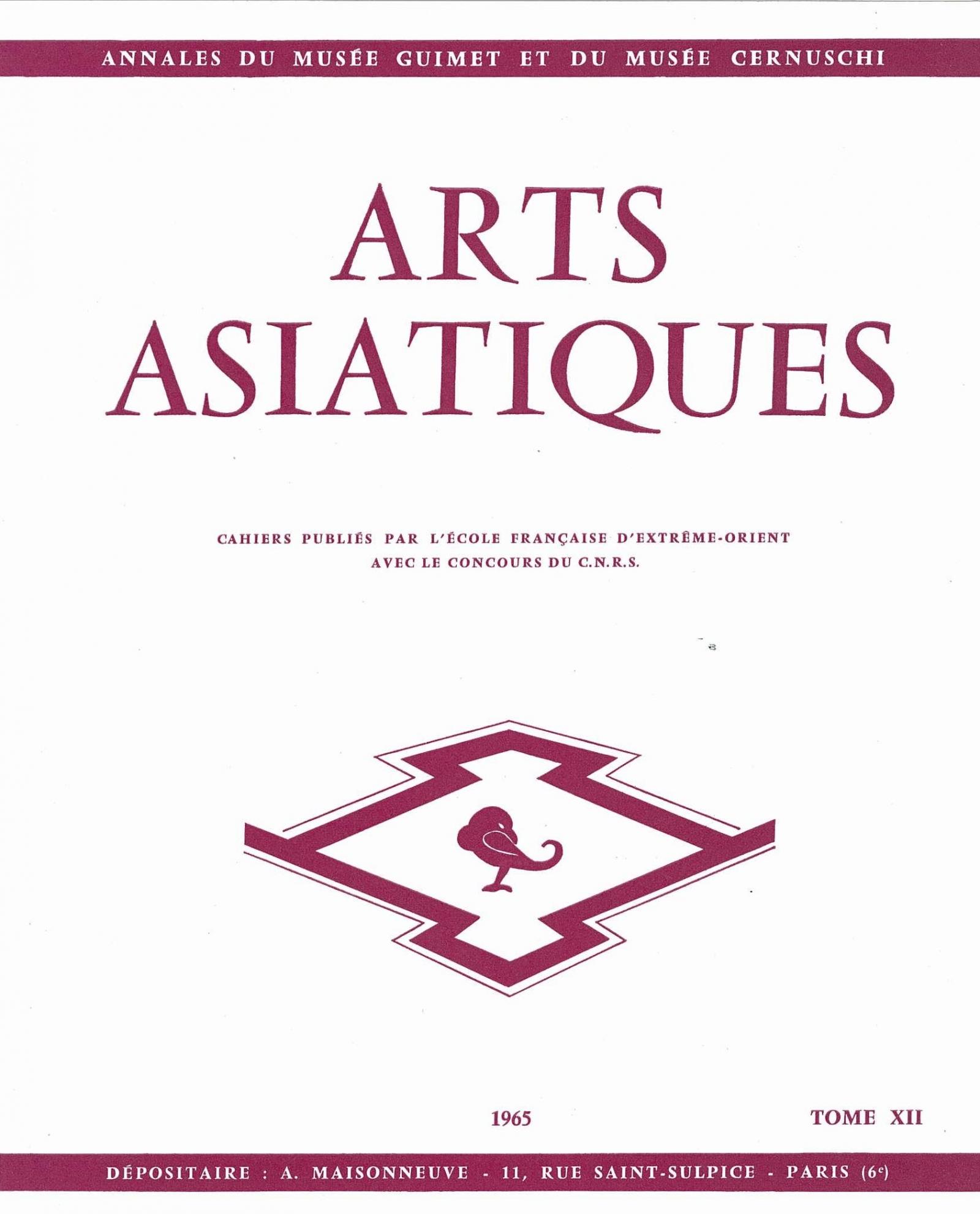 Arts Asiatiques 12 (1965)