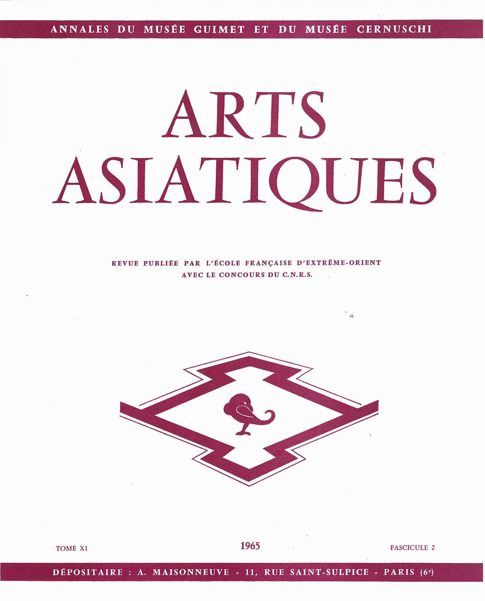Arts Asiatiques 11-2 (1965)