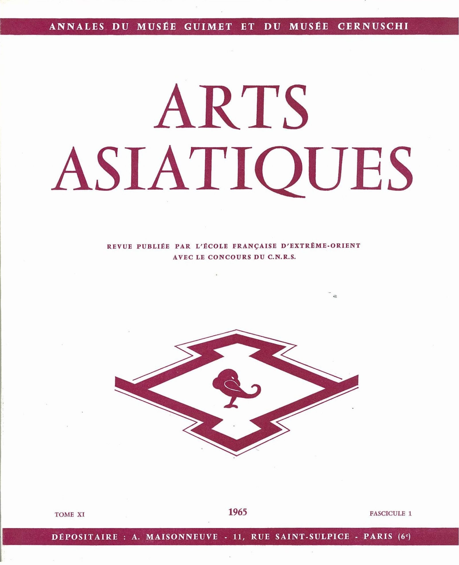 Arts Asiatiques 11-1 (1965)