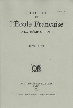 Bulletin de l'Ecole française d'Extrême-Orient 76 (1987)