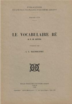 Le vocabulaire Bê de François-Marie Savina