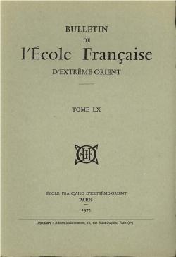 Bulletin de l'Ecole française d'Extrême-Orient 60 (1973)