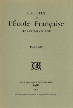 Bulletin de l'Ecole française d'Extrême-Orient 59 (1972)