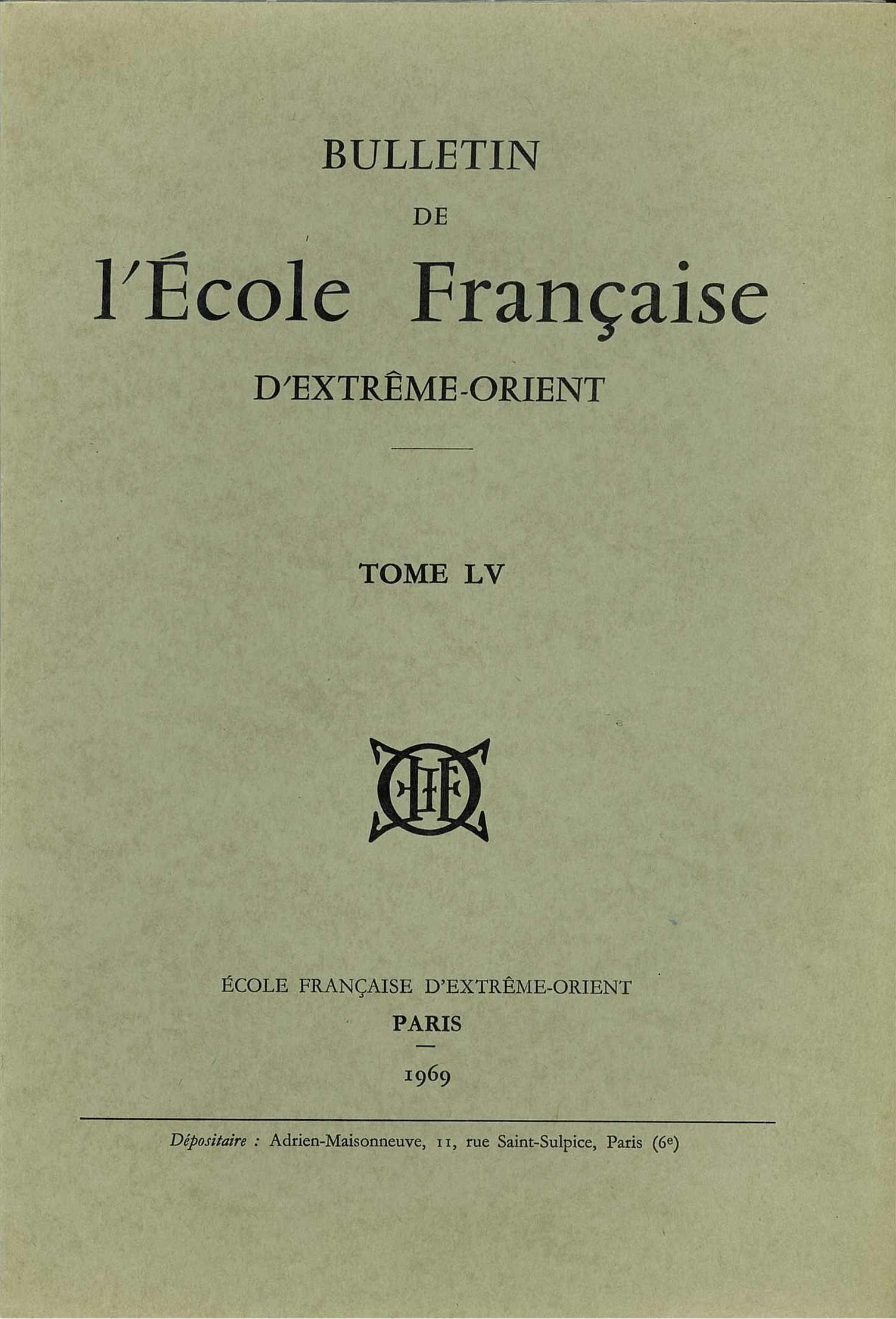 Bulletin de l'Ecole française d'Extrême-Orient 55 (1969)