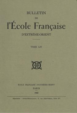 Bulletin de l'Ecole française d'Extrême-Orient 54 (1968)