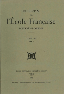 Bulletin de l'Ecole française d'Extrême-Orient 53 (1966)