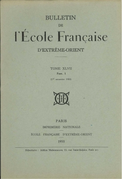 Bulletin de l'Ecole française d'Extrême-Orient 47 (1955)