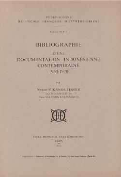 Bibliographie d'une documentation indonésienne contemporaine 1950-1970